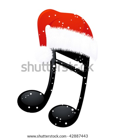 note in christmas hat  vector