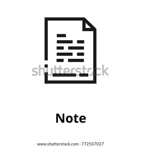 Note line icon