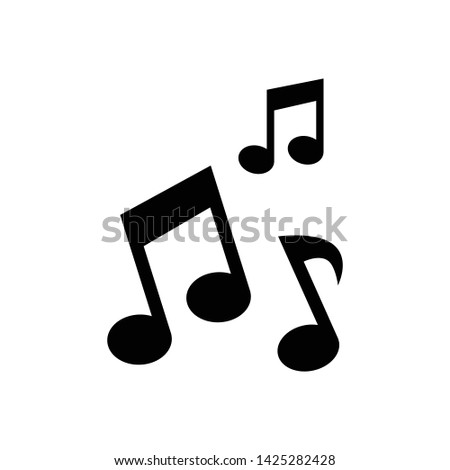 Note Music Icon Vector Design