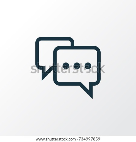 note outline chat icon symbol