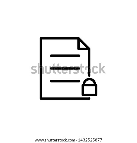 Note Outline Vector, Note Outline Icon, Note Outline Illustration, Note Outline Eps10