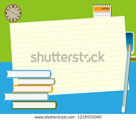 note pad plus pencil with some