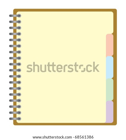 Note pad with spiral, Vector