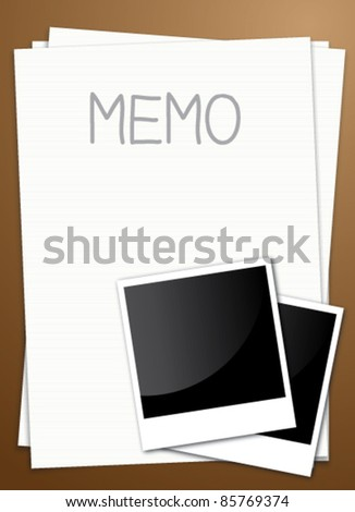 note paper and photo frame