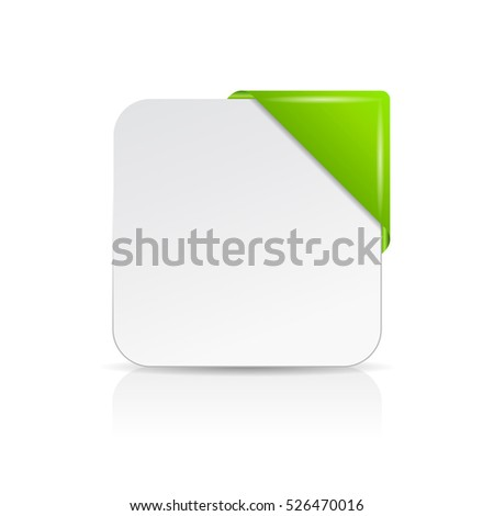 note paper card with green