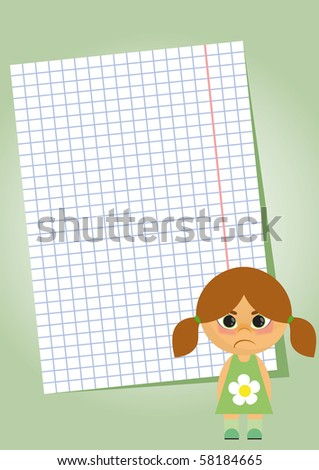 note paper on a green background