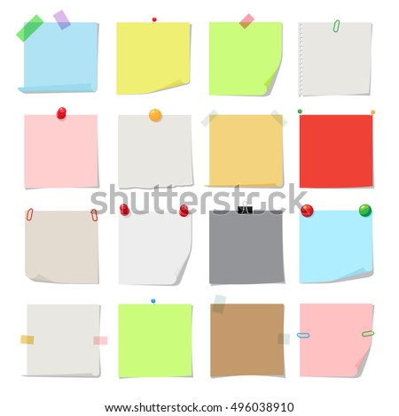 note paper set vector notes