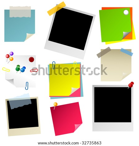 note paper sticker - stock vector