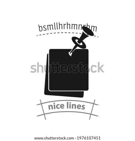 note paper with pushbutton simple vector icon. note paper with pushbutton simple vector icon. note paper with pushbutton simple vector icon.  Foto d'archivio ©