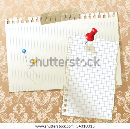 note papers on the wall