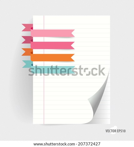 note papers with cute ribbons