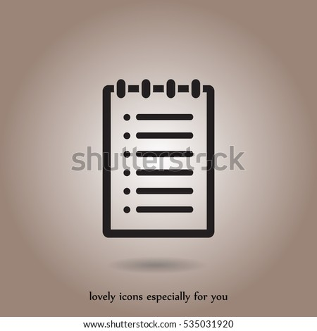 note vector icon