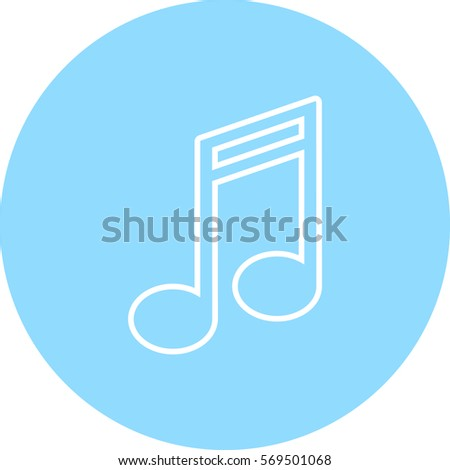 note vector icon, music icon