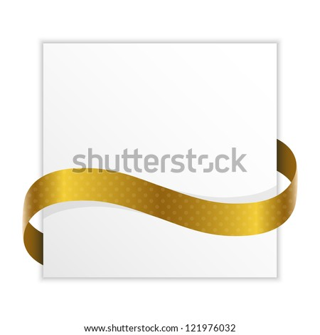 note with golden ribbon for