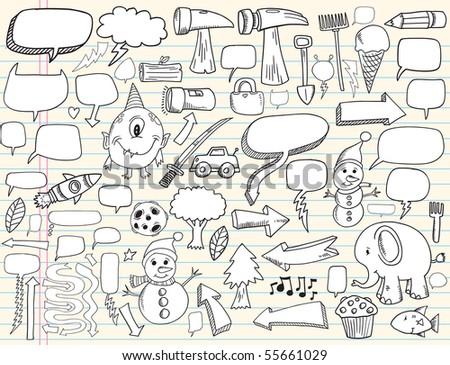 notebook doodle speech bubble