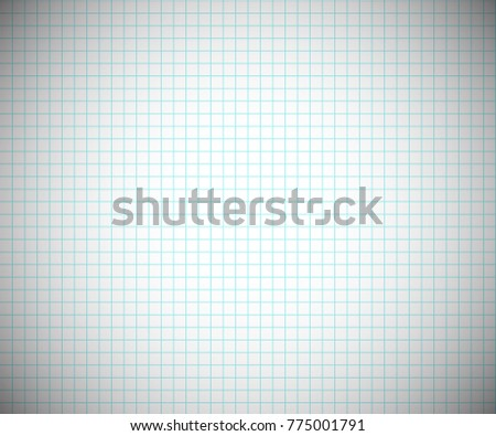 Notebook Grid Sheet Background. Abstract Horizontal Blank Cage Paper With  Blue Lines. Vector Illustration  Blank Sheet Of Paper With Lines