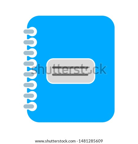 notebook icon. flat illustration of notebook vector icon. notebook sign symbol