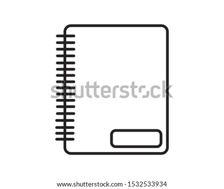 notebook icon, notebook icon illustration