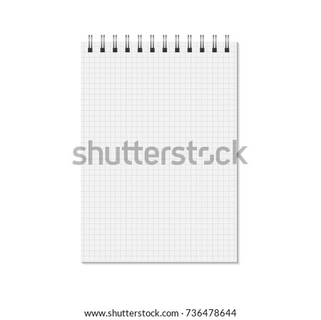 picnetz notebook mock up isolated on white background cell lined