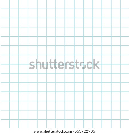 Notebook paper texture cell template. Squared blank sheet of copybook background. Flat design. Vector illustration