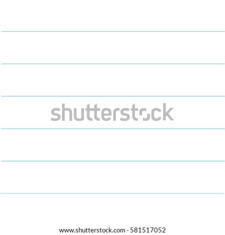 Notebook Paper Texture Lined Template. Blank Sheet Of Copybook Background.  Flat Design. Vector  Blank Sheet Of Paper With Lines