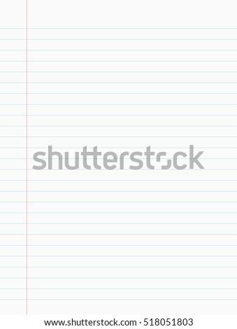 notebook paper vector illustration
