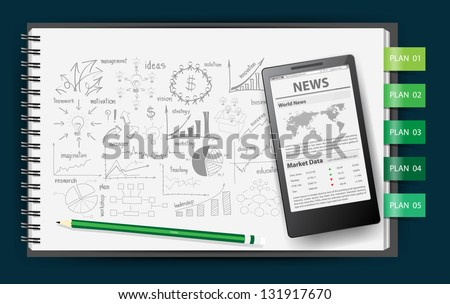 Business Notebook Paper Notebook Paper With Drawing