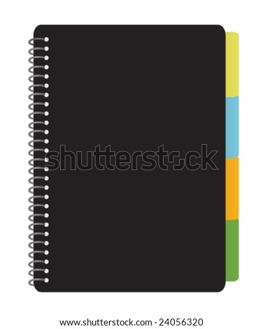 Notebook Planner - stock vector
