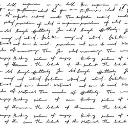 Notebook scribble handwritten letter background. Background of unreadable handwriting. Monochrome vector illustration of unreadable letters and calligraphy.