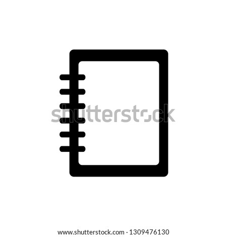 Notebook template. Notebook vector icon