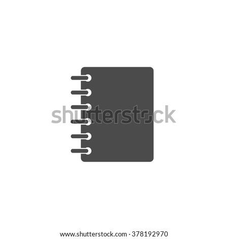 Notebook. Vector icon grey