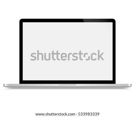 Notebook. Vector. Realistic isolated model - vector stock.