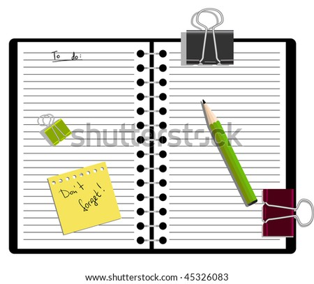 Notebook with a pencil and to-do list