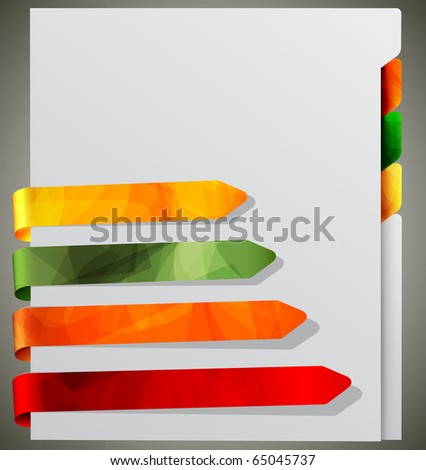 Notebook with Bookmarks   EPS10 Vector Illustration