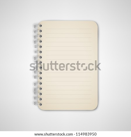 Notebook With Metal Binder Vector