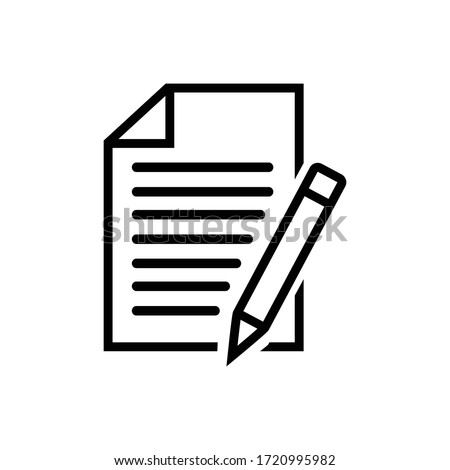 Notebook with pen icon isolated on white background.Vector illustration.