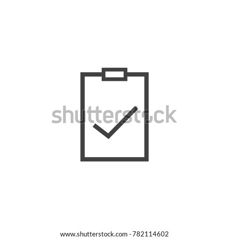 Notepad icon vector, document or binder