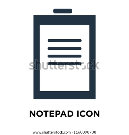 Notepad icon vector isolated on white background, Notepad transparent sign