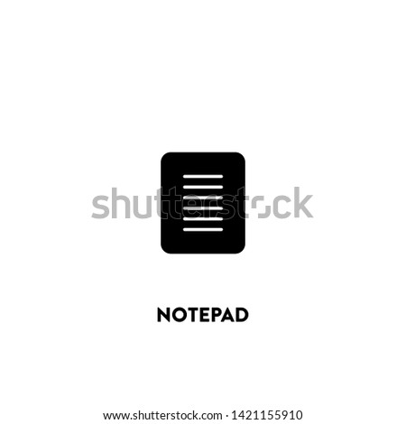 notepad icon vector. notepad sign on white background. notepad icon for web and app