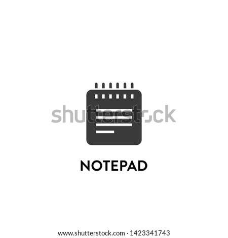 notepad icon vector. notepad vector graphic illustration