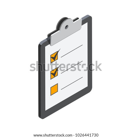Notepad in 3D isometric style