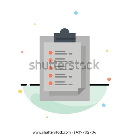 Notepad, Report Card, Result, Presentation Abstract Flat Color Icon Template