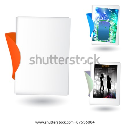 Notepad with front page illustration