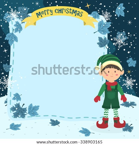 notes christmas elf boy with