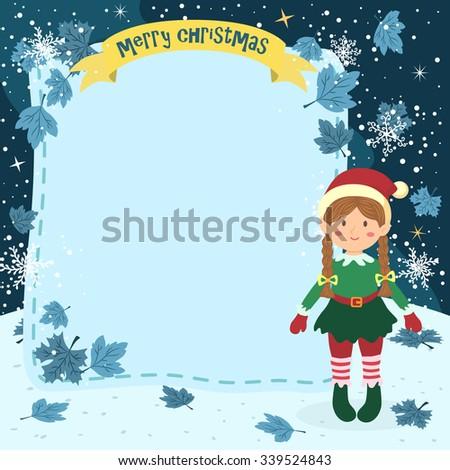 notes christmas elf braid girl