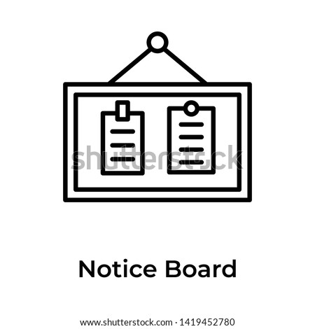 Notice board line design vector