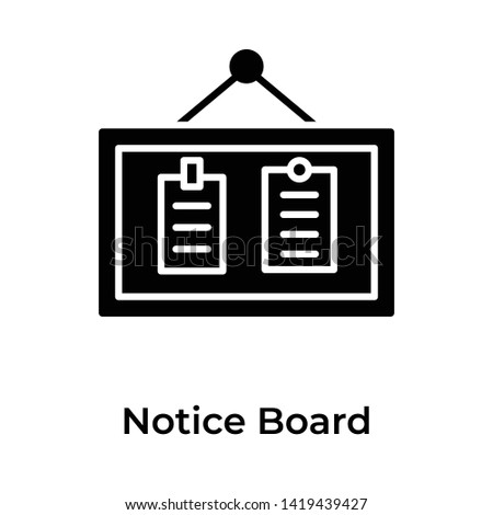 Notice board solid design vector