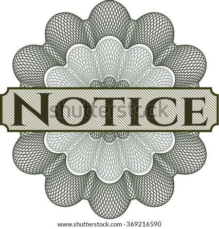 Notice rosette