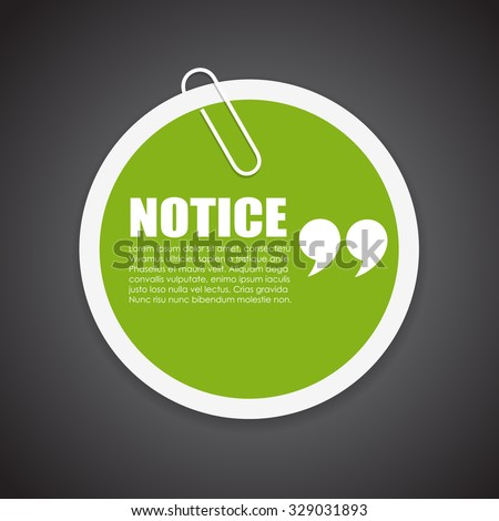 notice vector note paper