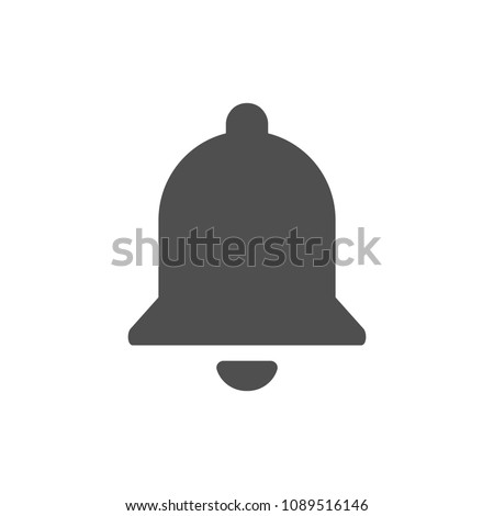 Notification bell icon, Social media YouTube element black color. Vector illustration. EPS 10